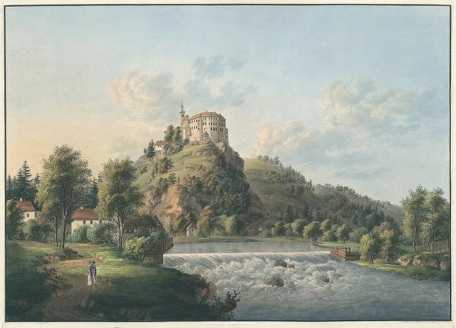 Le château de Sachsenburg en Saxe