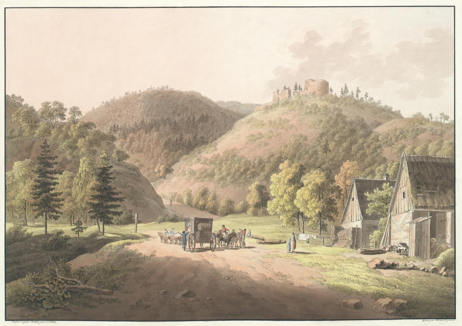 Le Geyersberg près de Toeplitz en Bohème