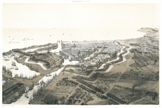 Le Havre. Vue prise au dessus du Chemin de fer et du Bassin Vauban