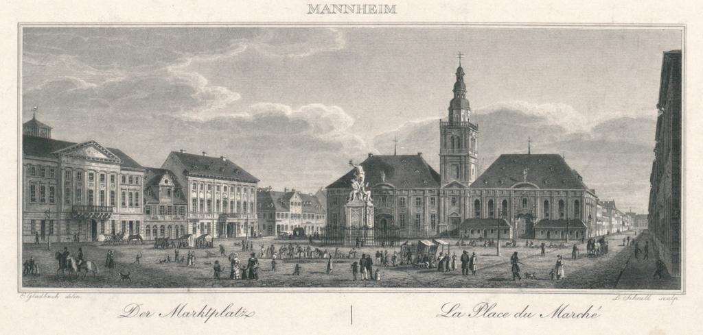 Mannheim. Der Marktplatz. La Place du Marché