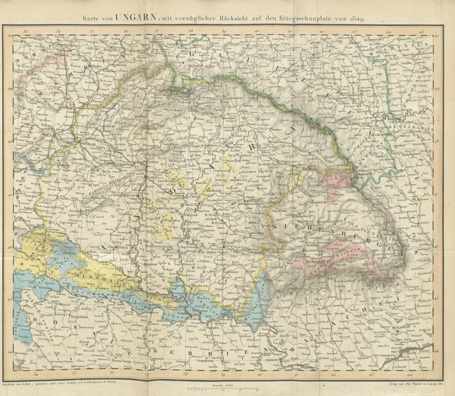 "map from ""Memoiren ... April bis October 1849. Original Ausgabe"""