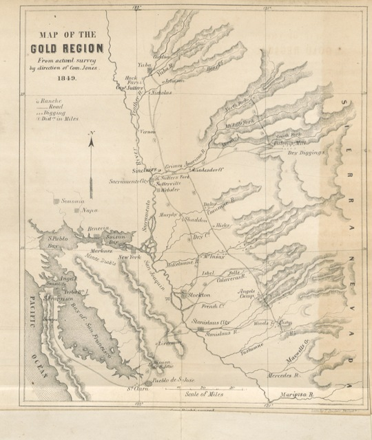 """map from """"Sights in the Gold Region, and Scenes by the Way ... With numerous illustrations ... Second edition, revised and enlarged"""""""