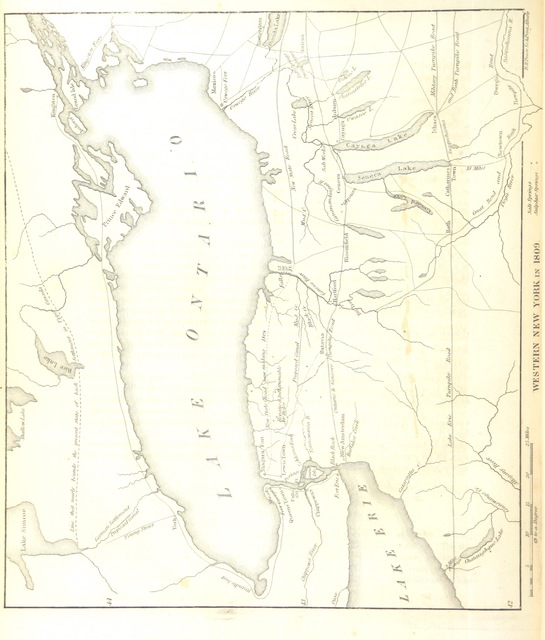 "map from ""The Documentary History of the State of New York"""