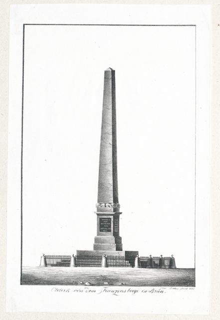 Obelisk von dem Franzensberge in Brün (!)