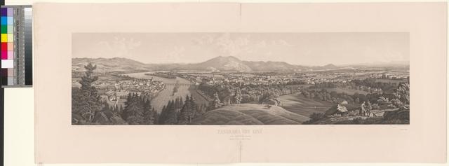 Panorama von Linz vom Jaegermeier gesehen