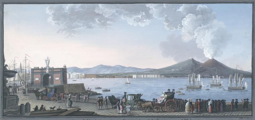 Parte di Napoli che confina con Portici veduta dalla Fontana sopra il Molo