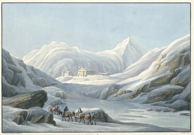 Passage du grand St. Bernard non loin dû monastêre