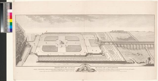 Perspective de la Place de Louis XIV. a Montpellier