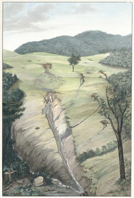 Plan der Situirung der, oberhalb Siefering am Fusse des Hermannskobels(!) entdeckten Wasserquellen, welche zur Speisung der, in die Irren-Heilanstalt zu führenden Wasserleitung bestimmt sind