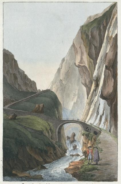 Pont de Diable, sur le Mont St. Gotthardt, dans le Canton Ury