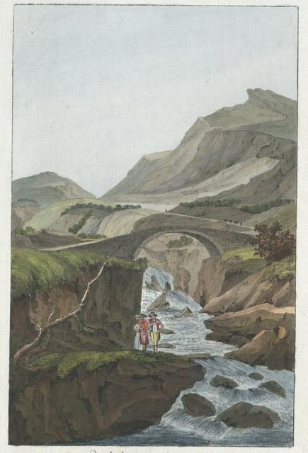 Pont de l'Aare sur le Mont Grimsel dans le Canton de Berne
