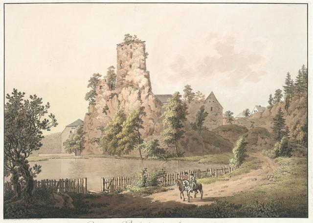 Ruine von Rechenberg bei Frauenstein in Sachsen