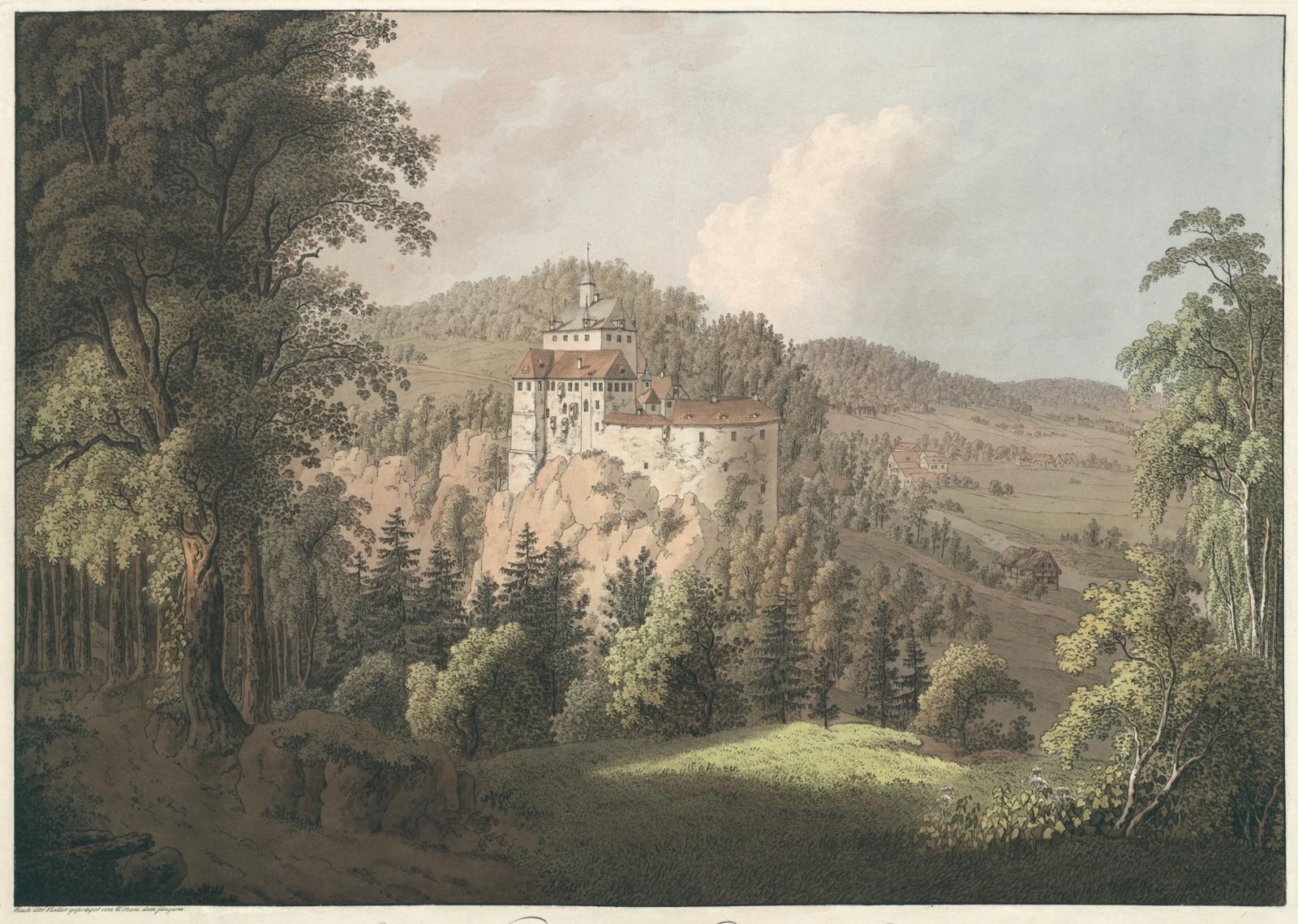 Schloss Kriebstein bei Waldheim in Sachsen