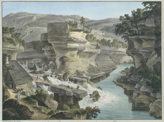 Sortie du Rhône du rocher après sa perte Jonction de la Valserine