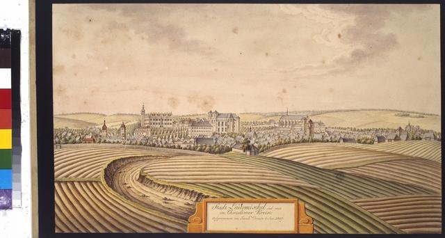 Stadt Leutomischel süd west im Chrudimer Kreise aufgenommen von Joann Venuto 3. Sept. 1807