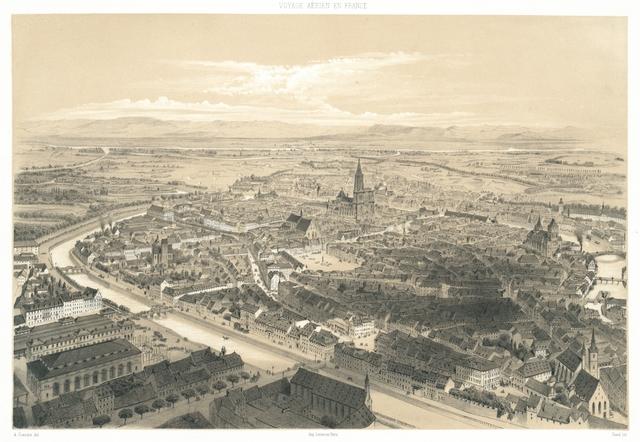 Strasbourg. Vue prise au dessus du Faub. de Saverne