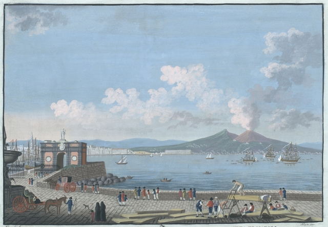 Veduta del Monte Vesuvio e parte dellla Città di Napoli
