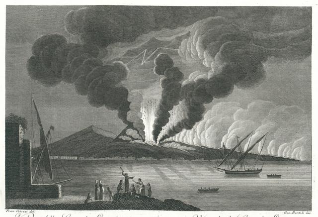 Veduta della Grande Eruzione dello 15. Giugno del 1794. Vue de la Grande Eruption de 15. Juin du 1794