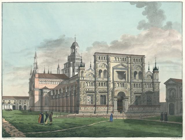 Veduta esterna della Certosa presso Pavia