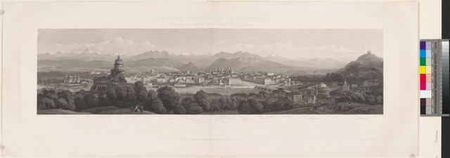 Veduta generale di Torino disegnato dal vero dalla Villa Morelli dietro al Monte dei Capuccini
