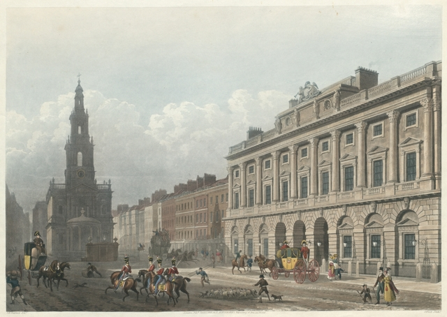 View of Somerset House, from the Strand