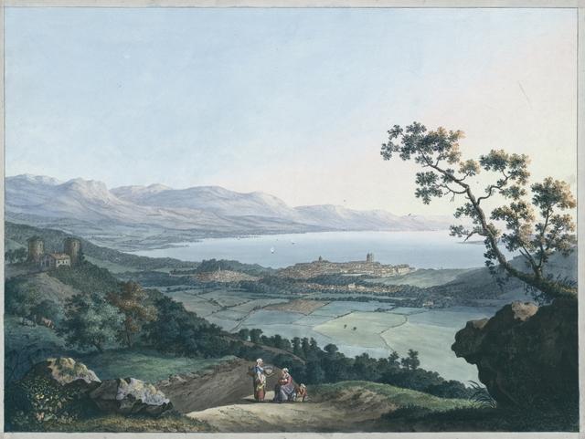 Vue de Genéve pris depuis Saconex en Savoie