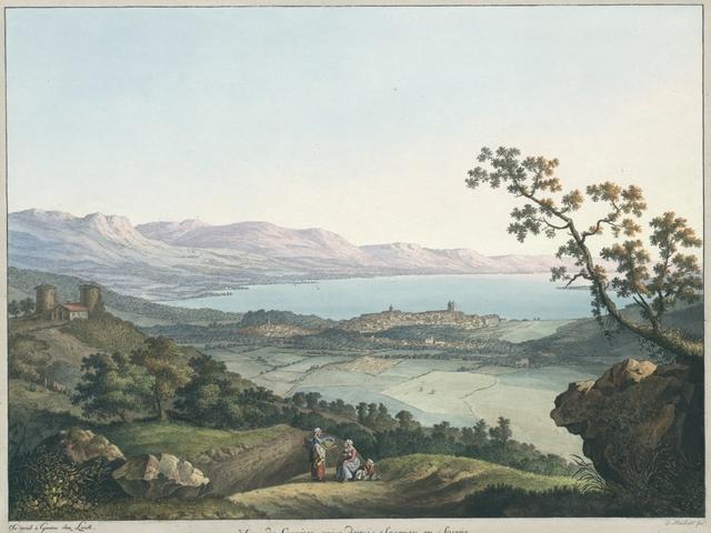 Vue de Genéve, prise depuis Saconex en Savoie
