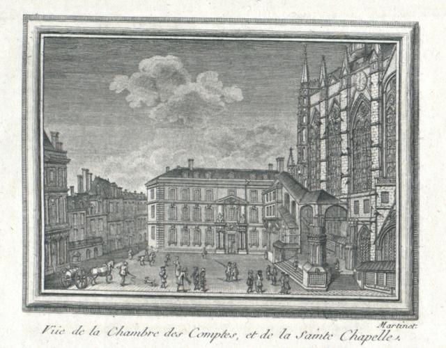 Vue de la chambre des Comptes, et de la Sainte Chapelle