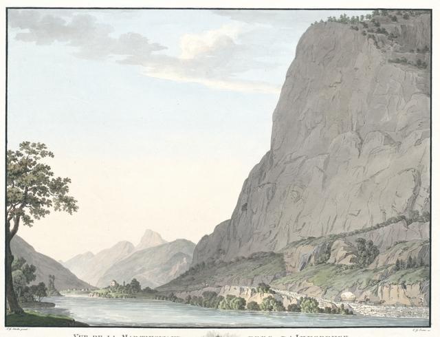 Vue de la Martinswand pres d'Innsbruck