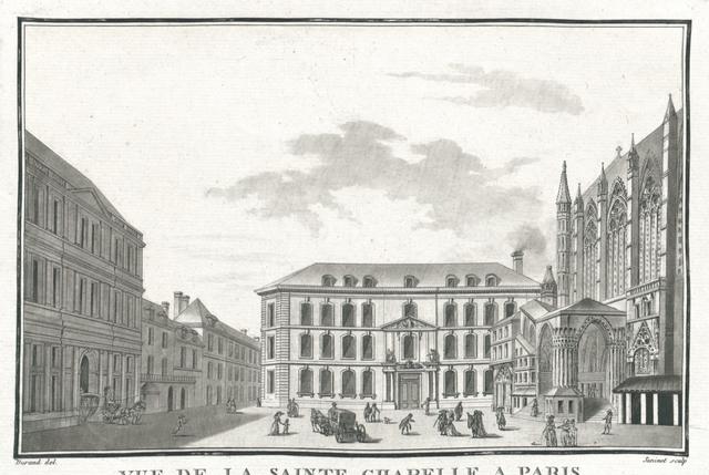Vue de la Sainte Chapelle a Paris et de l'Hôtel de la cour des Comptes