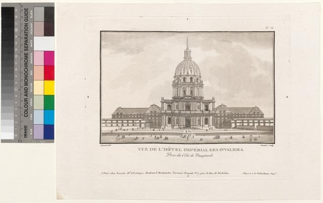 Vue de l'Hôtel Impérial des Invalides. Prise du côté de Vaugirard