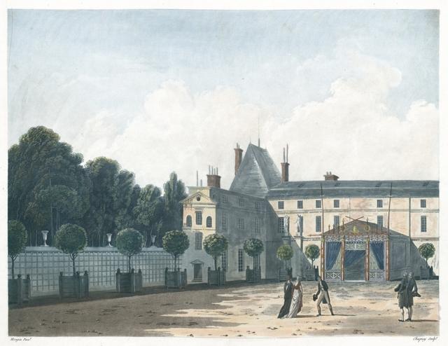 Vue de Malmaison du côté de l'Orangerie. Séjour de Plaisance de S. M. l'Impératrice