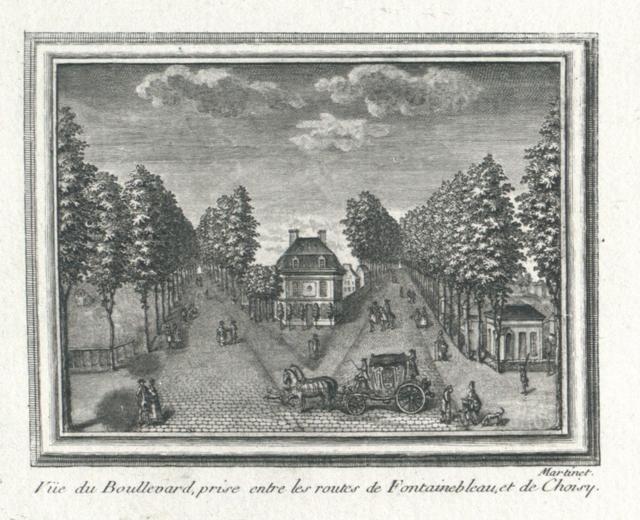 Vue du Boullevard, prise entre les routes de Fontainebleau, et de Choisy