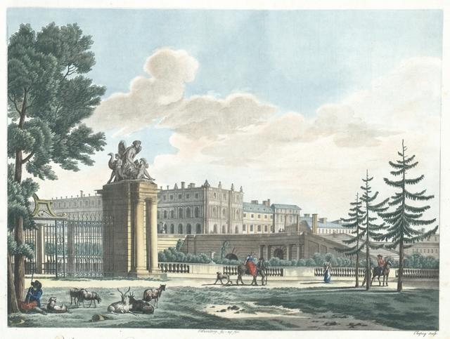 Vue du Château & de l'Orangerie de Versailles