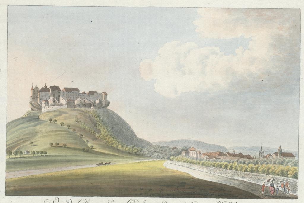 Vue du Chateau de Lenzbourg, dans le Canton de Berne