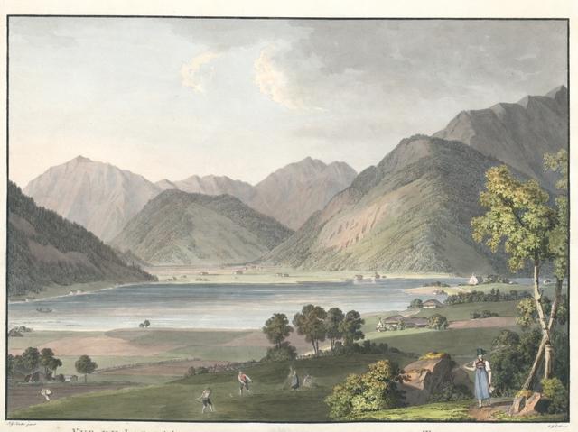 Vue du Lac d'Achenthal ein Tirol