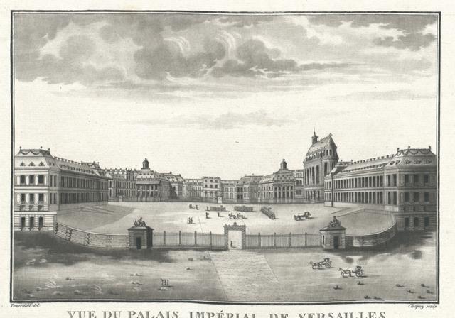 Vue du Palais Impèrial de Versailles du côté de l'avenue de Paris