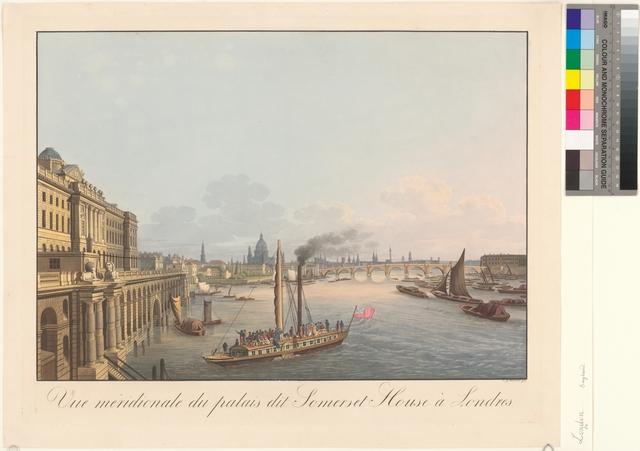 Vue Meridionale du palais dit Somerset House à Londres