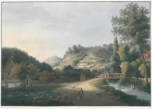 Vuen prise à l'Entrée de la vallée de Loschwitz aux environs de Dresde