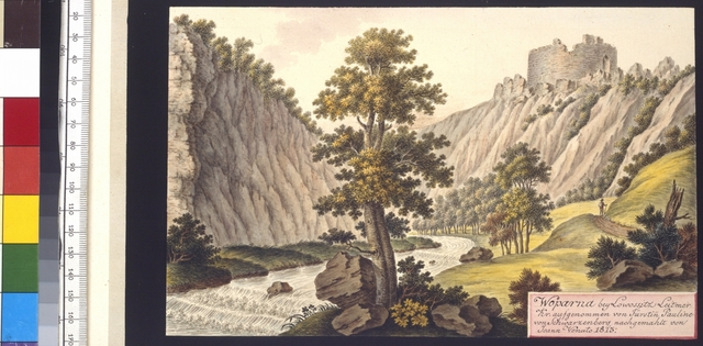 Woparna bey Lowossitz Leitmer. Kr. aufgenommen von Fürstin Pauline von Schwarzenberg, nachgemahlt von Joann Venuto 1813