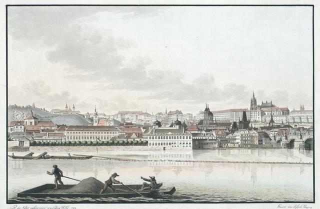 Zweyter Theil der östlichen Ansicht vom kleinseitner Ufer Prags an der Moldau