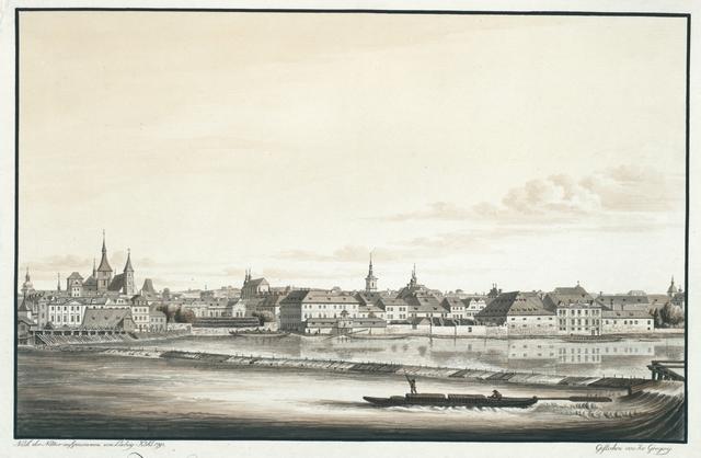 Zweyter Theil der westlichen Ansicht vom alt- und neustaedter Ufer Prags an der Moldau