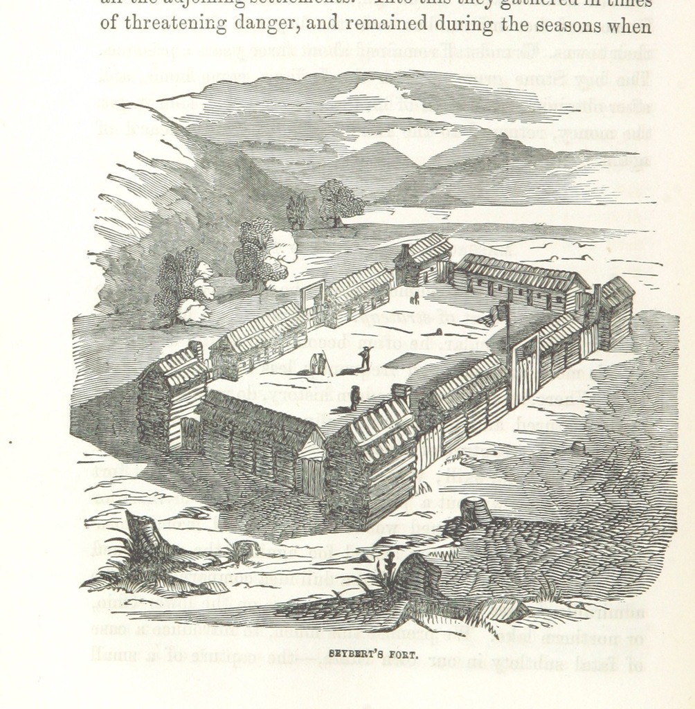 """Allegheny Mountains from """"History of the Early Settlement and Indian Wars of Western Virginia; embracing an account of the various expeditions in the West, previous to 1795. Also, biographical sketches of Col. Ebenezer Zane, Major Samuel M'Collach [and others] ... Illustrated by numerous engravings"""""""