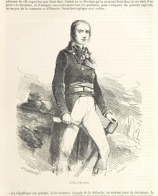 """Jean-Marie Collot d'Herbois from """"Histoire de la Révolution Française, 1789-1796. ... Troisième édition"""""""