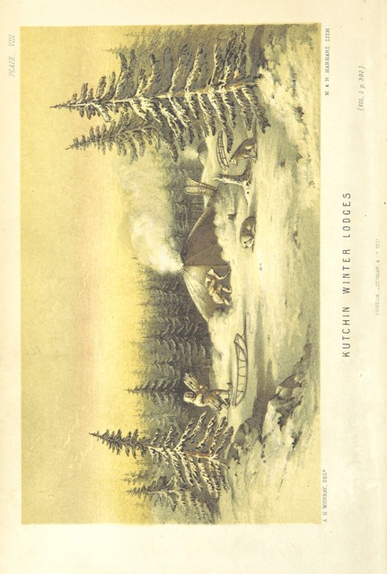 """lodges from """"Arctic Searching Expedition: a journal of a boat-voyage through Rupert's Land and the Arctic Sea, in search of the discovery ships under the command of Sir John Franklin"""""""