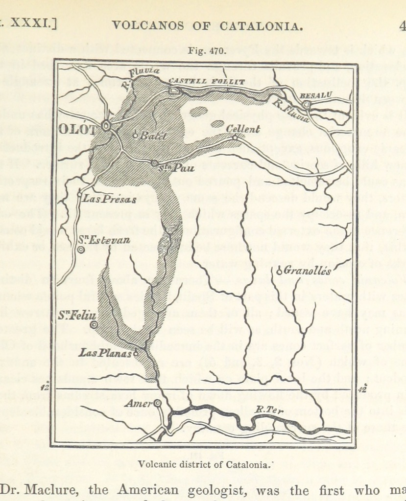 "map from ""A Manual of Elementary Geology. ... Third and entirely revised edition"""