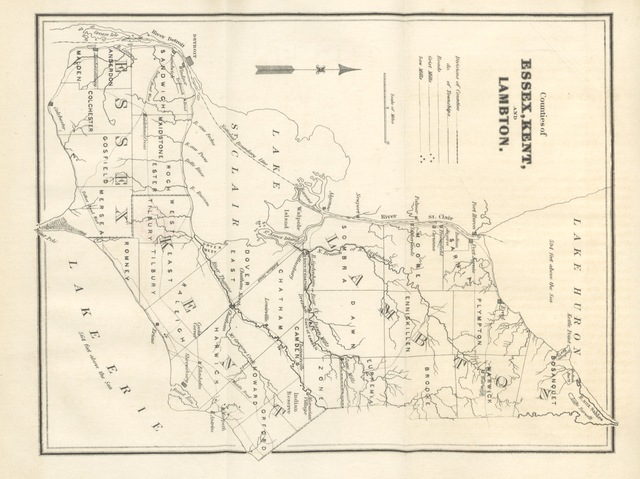 """map from """"Canada: past, present and future. Being a historical, geographical, geological and statistical account of Canada West"""""""