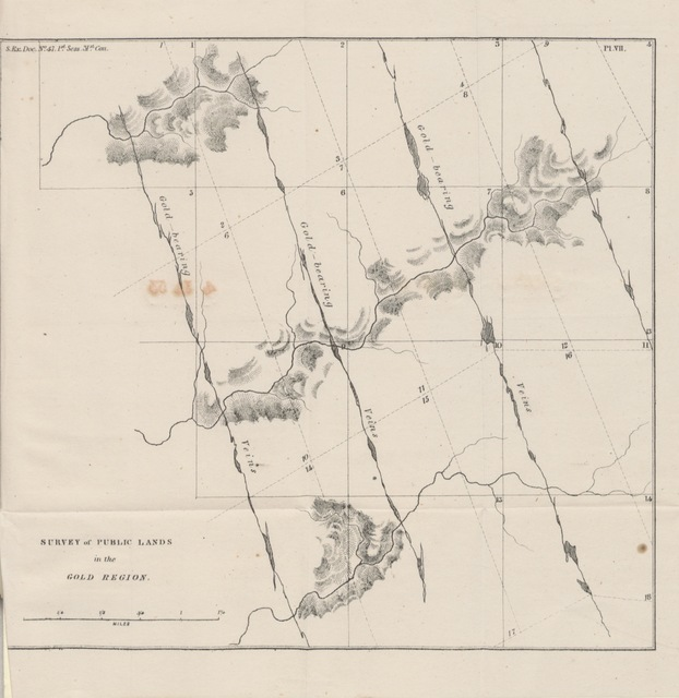 """map from """"Geology and industrial resources of California ... To which is added the official reports of Genls. Persifer, F. Smith, and B. Riley, including the reports of Lieuts. Talbot, Ord, Derby, and Williamson, of their explorations in California and Oregon; and also of their examinations of routes for railroad communication eastward from those countries"""""""
