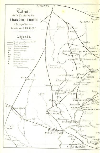 """map from """"Histoire de la ville de Gray et de ses monuments. [With plates.]"""""""