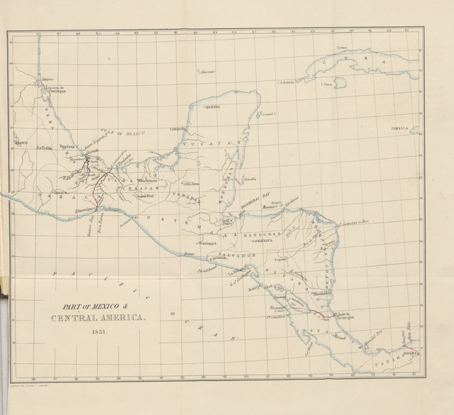 """map from """"Notes of an Excursion to the Isthmus of Tehuantepec, in the Republic of Mexico. [With plates and a map.]"""""""